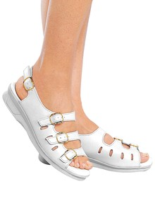 Leather Three-Strap Sandals