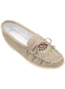 Genuine Suede Beaded Moccasins