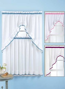 4 Pc Curtain Swag & Tier Set