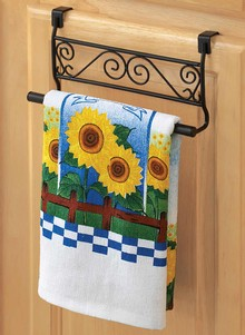 Over Cabinet Door Towel Holder