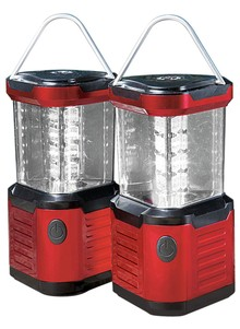 Red Triangular LED Lantern