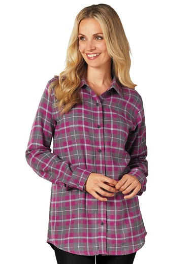 100%_Cotton_Flannel_Plaid_Shirt
