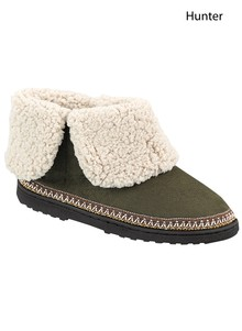 Microsuede Slipper Boot