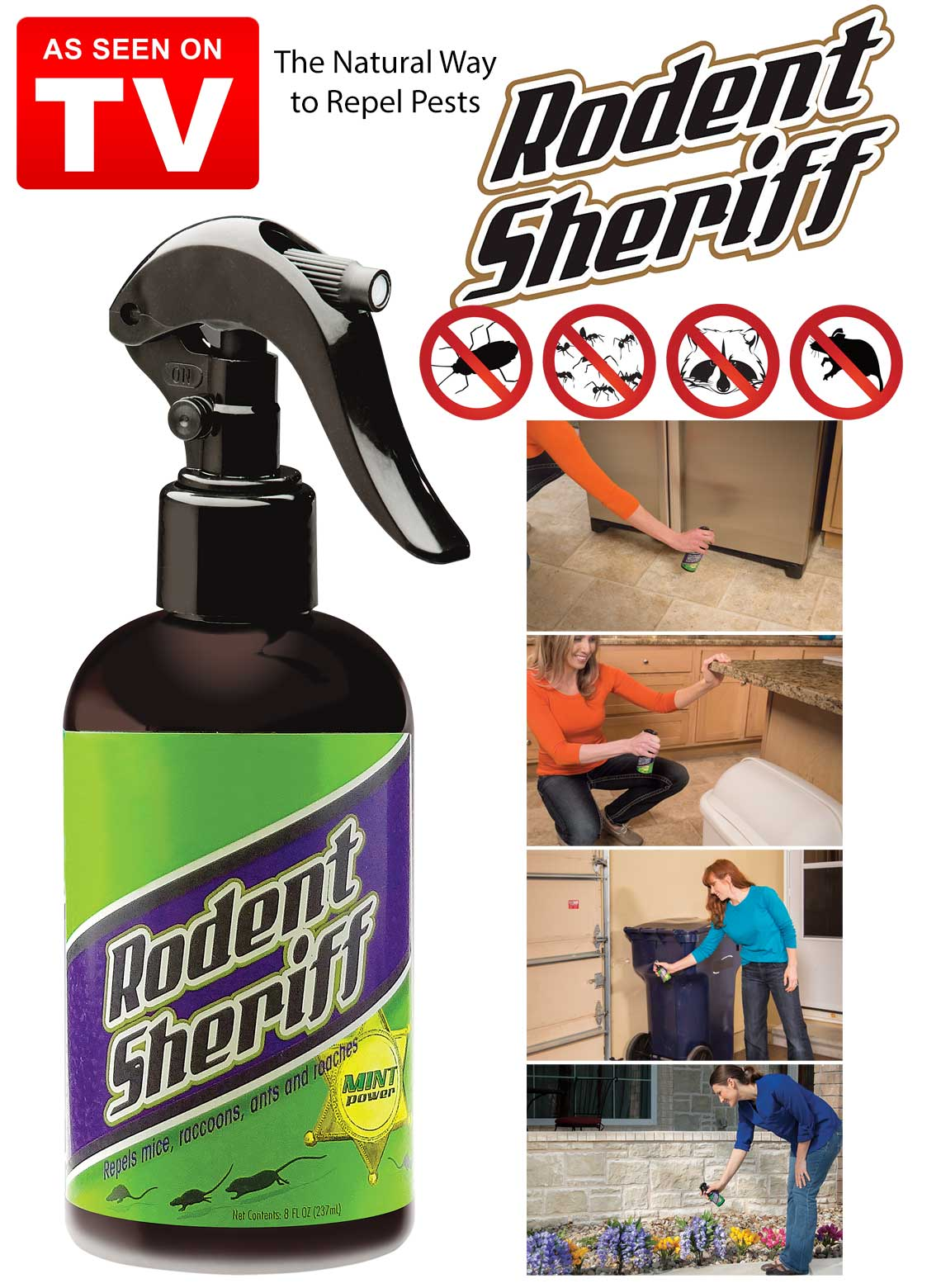 Rodent Sheriff Pest Control Spray As Seen On Tv