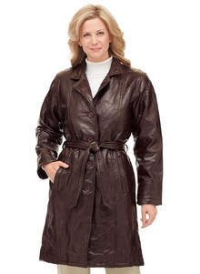 Women's Leather Trench Coats